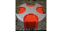 Bouchon (Malte ou Radiant) pour réservoir d'essence en aluminium 'powder coat' par Slingshot Plus